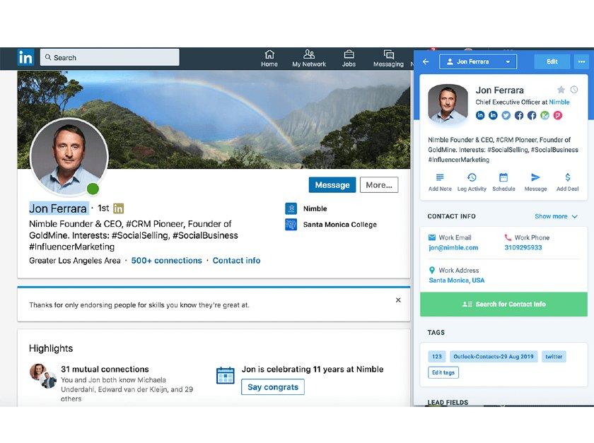 Nimble and LinkedIn Sales Navigator Integration