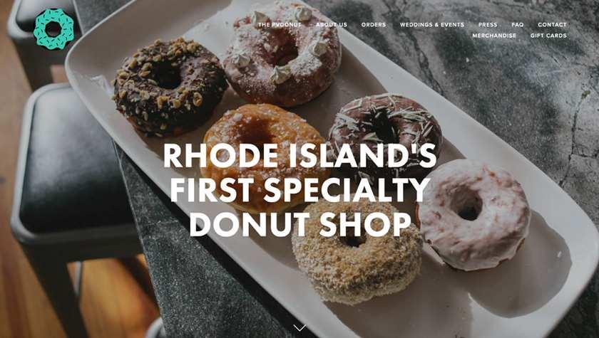 Screenshot of PV Donuts website