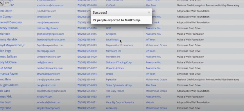 Pipedrive and Mailchimp Integration