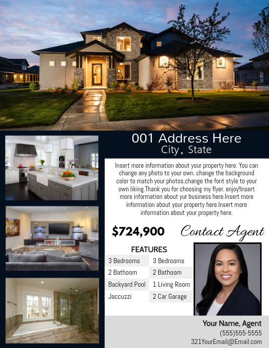 Postermywall offer property details Open House Invitation