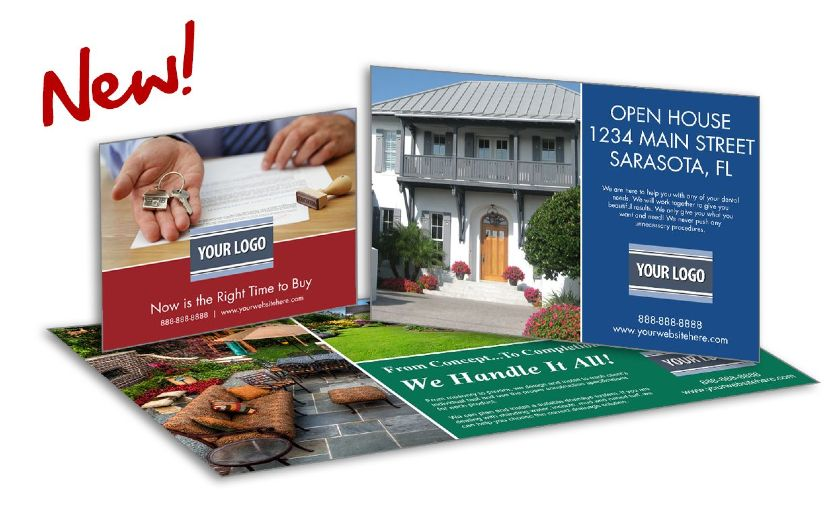 ProspectsPLUS! open house invitation postcard templates