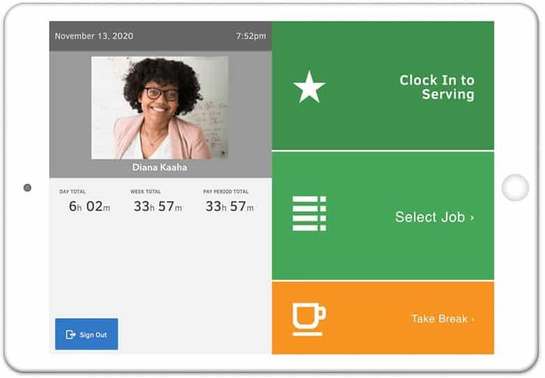 Screenshot of QuickBooks Time app