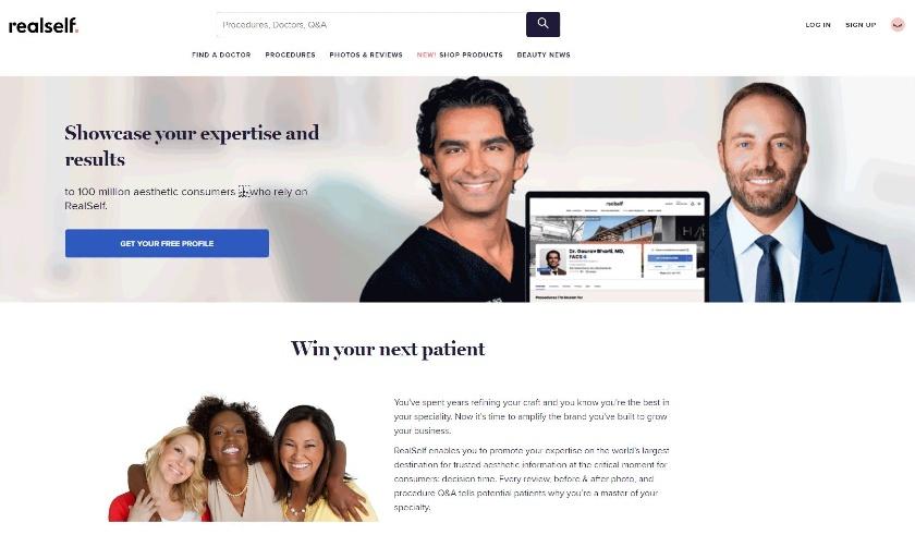RealSelf homepage