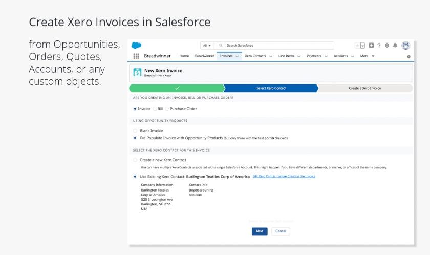 Salesforce and Xero Integration