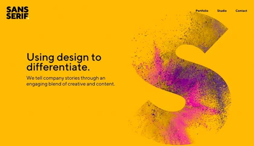 Screenshot of Sans Serif website