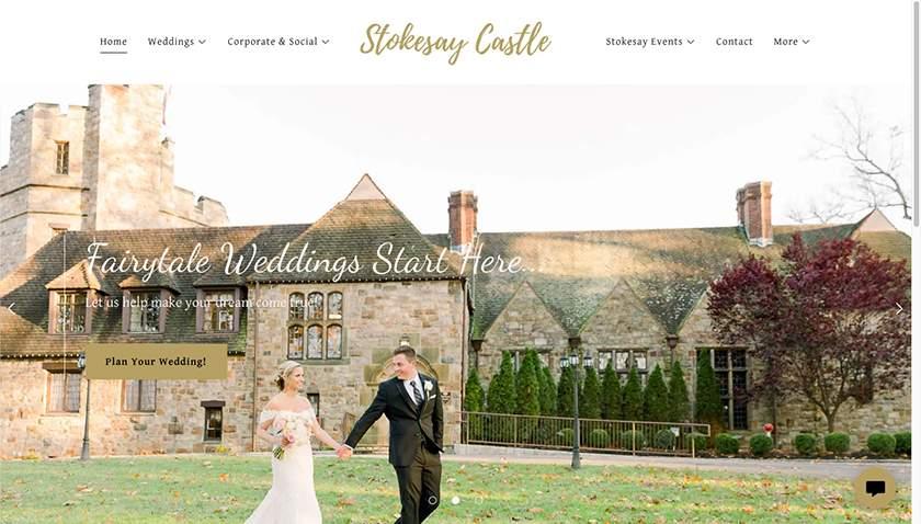 Screenshot of Stokesay Castle website