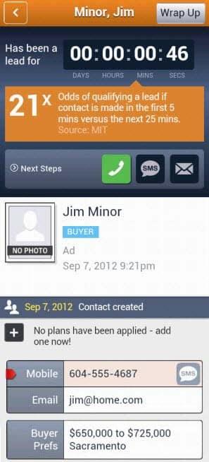 Screenshot of Top Producer mobile app