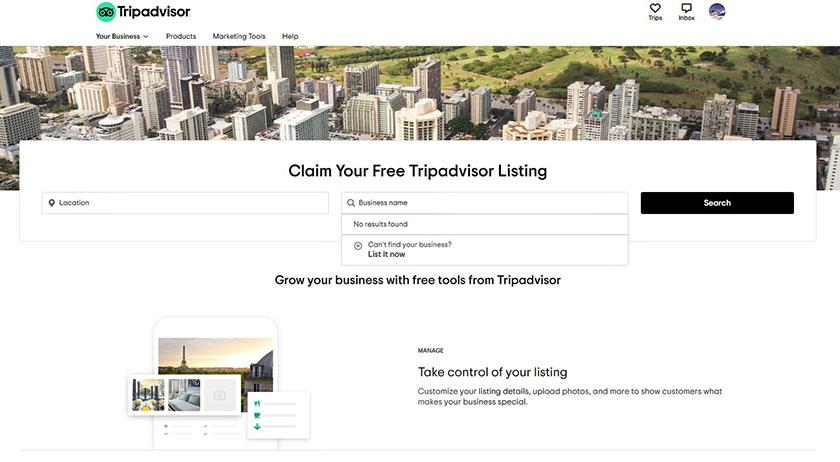 Tripadvisor travel and Tourism directory