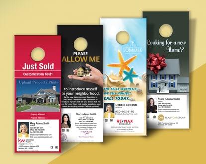 Screenshot of Variety of door hangers for real estate agents