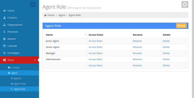 Screenshot of Voicent Agent Setup Page