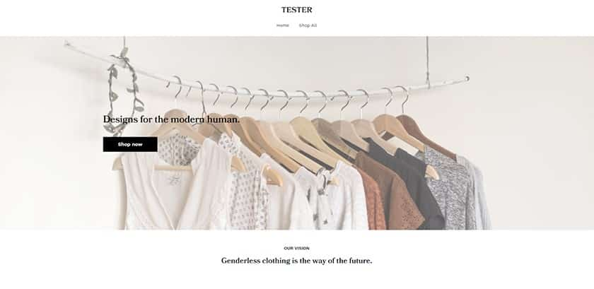 Screenshot of Weebly sample website