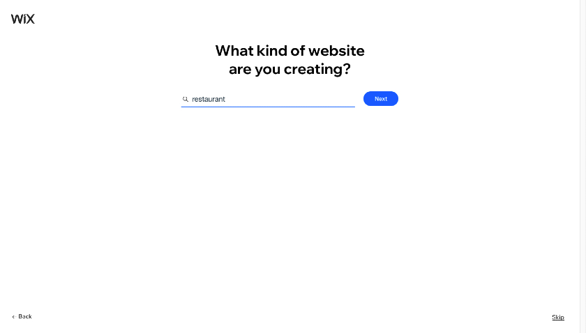 Wix Question on what you're creating