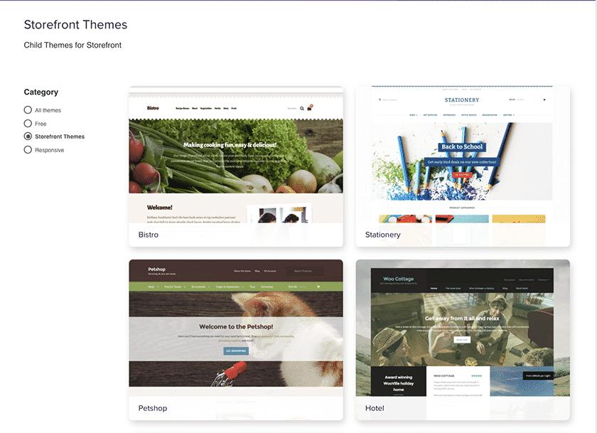 Screenshot of WooCommerce default website theme