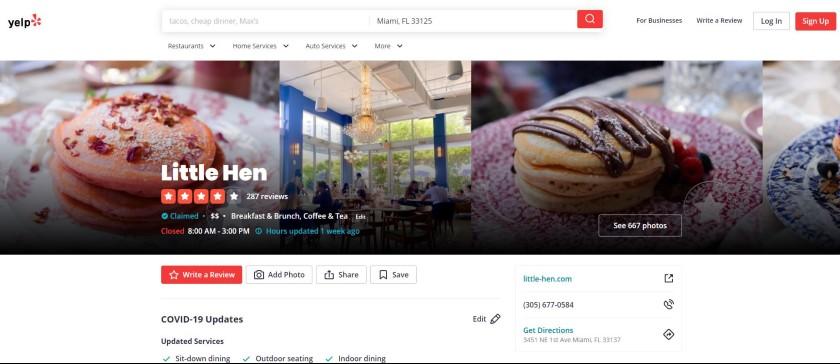 Yelp Online Listings