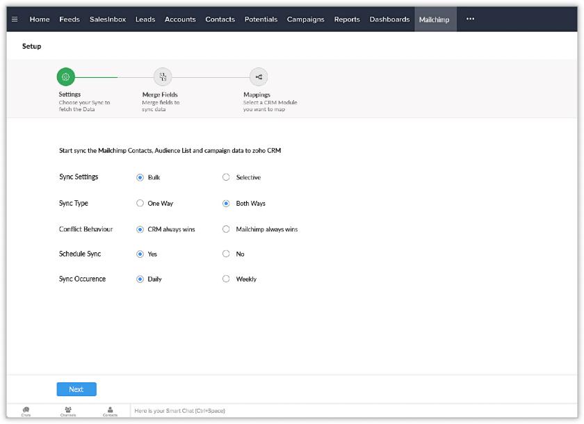Zoho CRM & Mailchimp Integration Setup