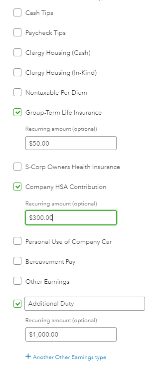additional pay option