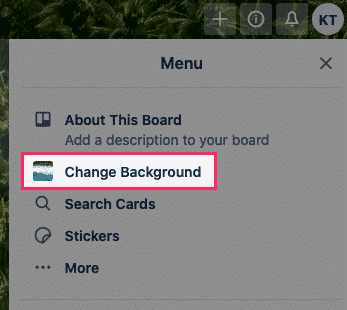 changing the background of Trello board