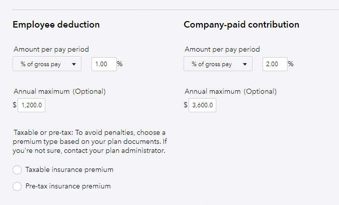 employee deduction and company paid contribution calculations