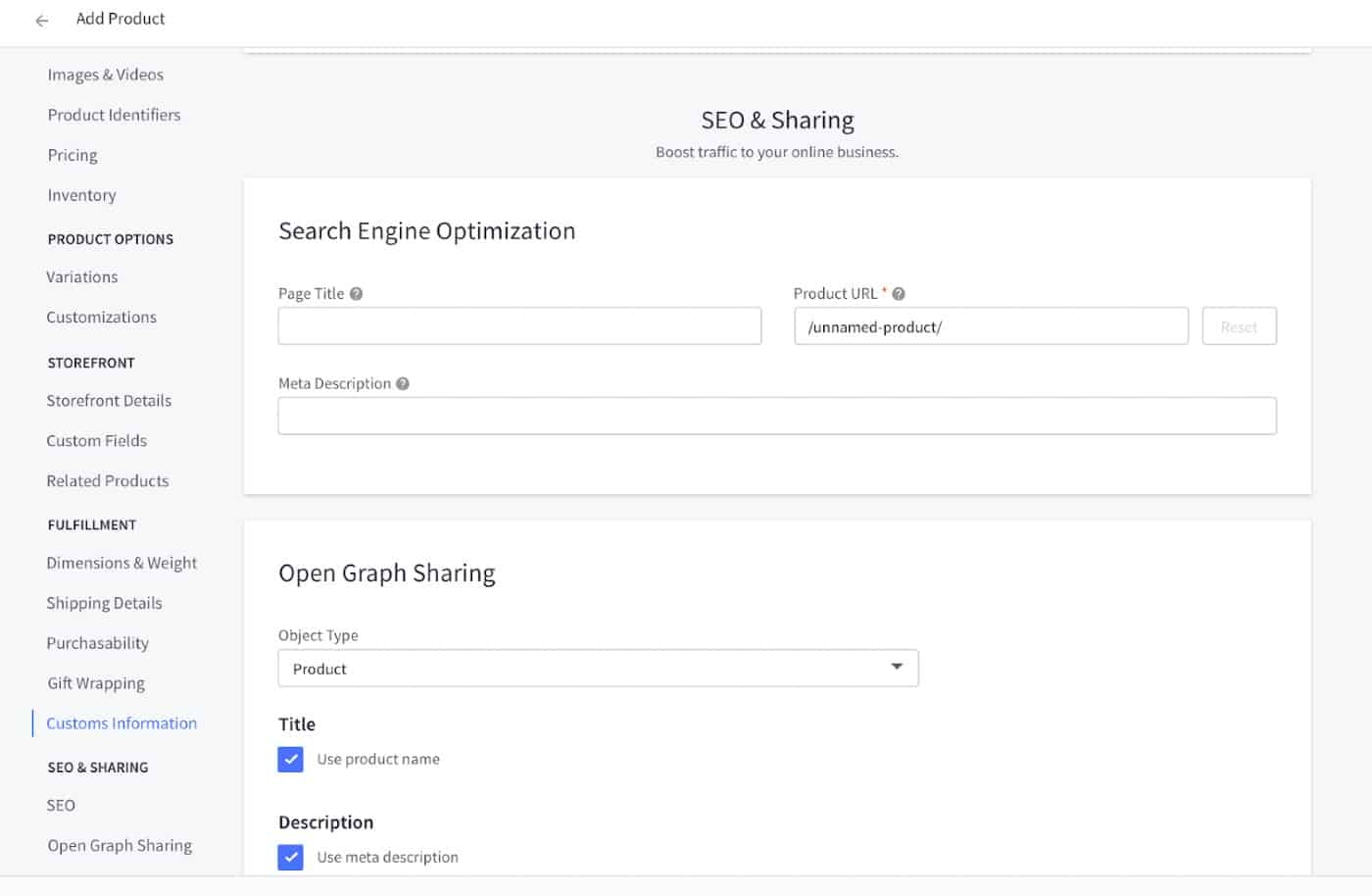 Screenshot of Ability to Set Up and Implement SEO