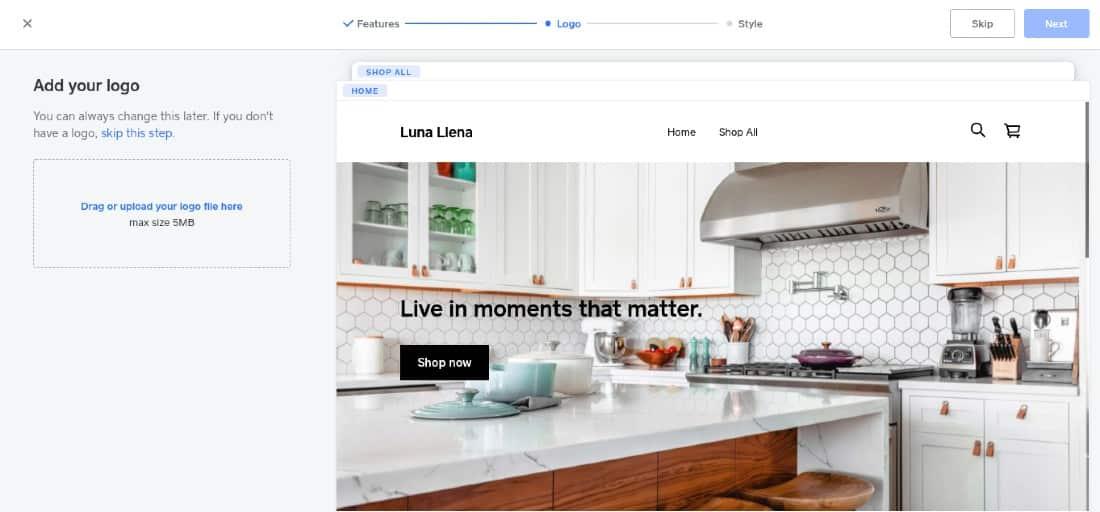Screenshot of Adding Logo
