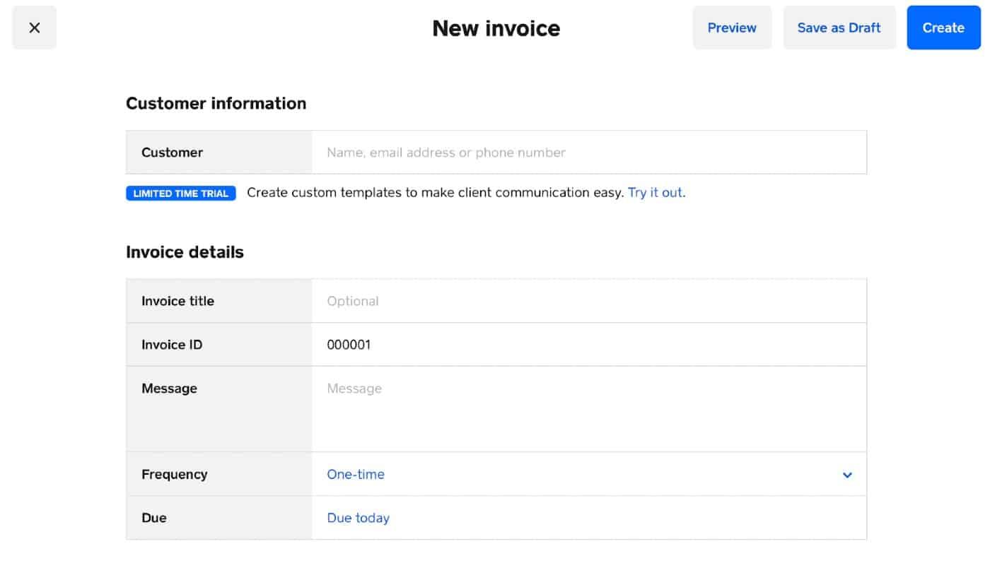 Screenshot of Adding New Invoice