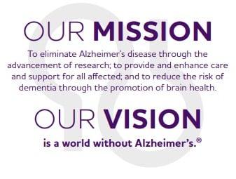 Screenshot of Alzheimer's Association Vision Statement