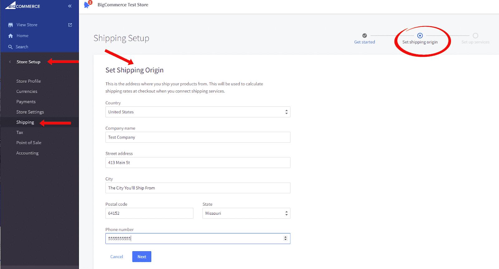 Screenshot of BigCommerce Dashboard Walks You Step by Step