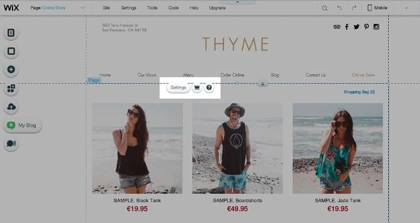 Screenshot of Ecwid Store Being Added to Wix Website