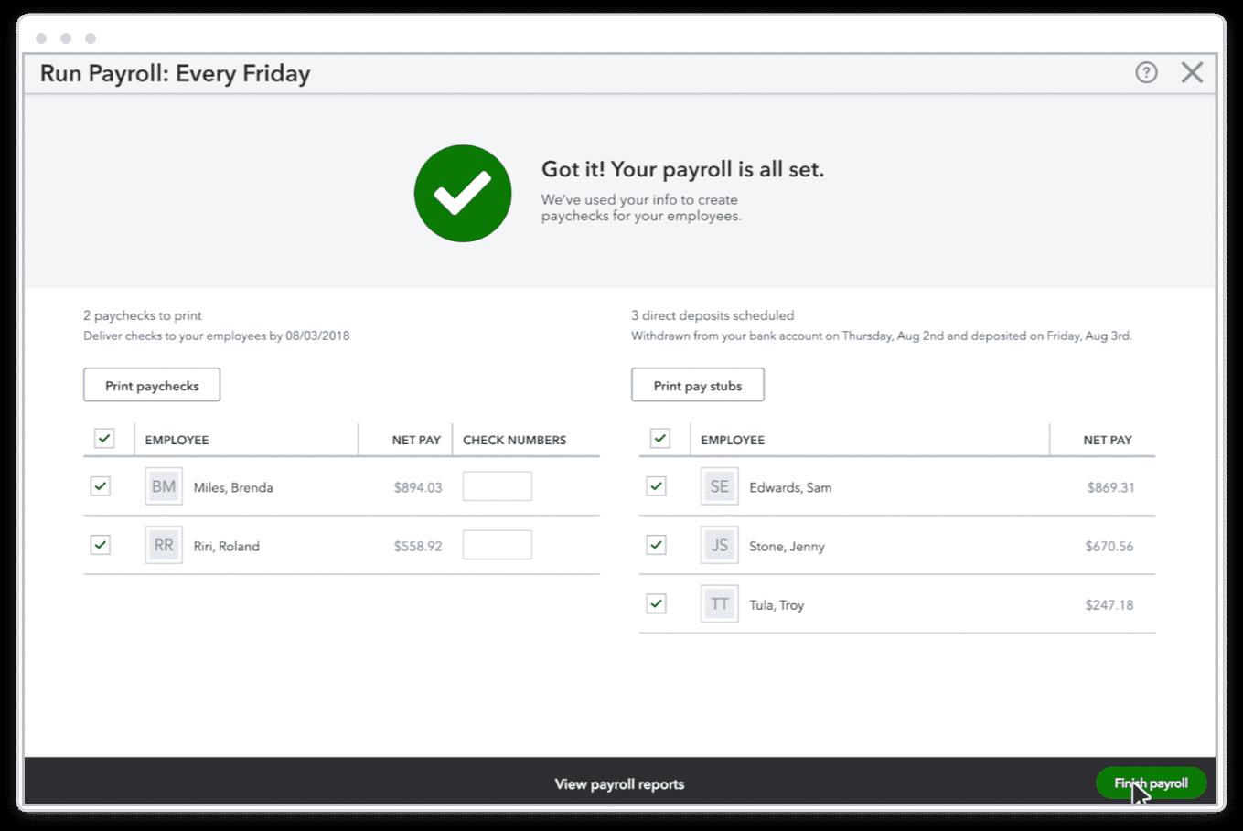 Screenshot of Setting QuickBooks Payroll to Run Payroll Automatically