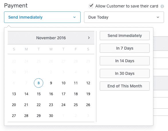 Screenshot of Setting Send Time