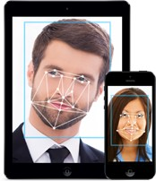 Screenshot of TimeTrex Advanced Facial Recognition Tool on a Tablet and Smartphone