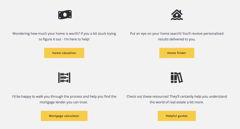 website design sample from Placester