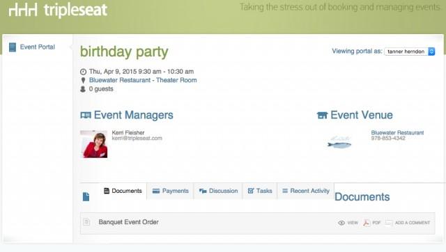 Tripleseat Event Portal