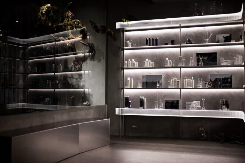 Back-lit Open Cabinet