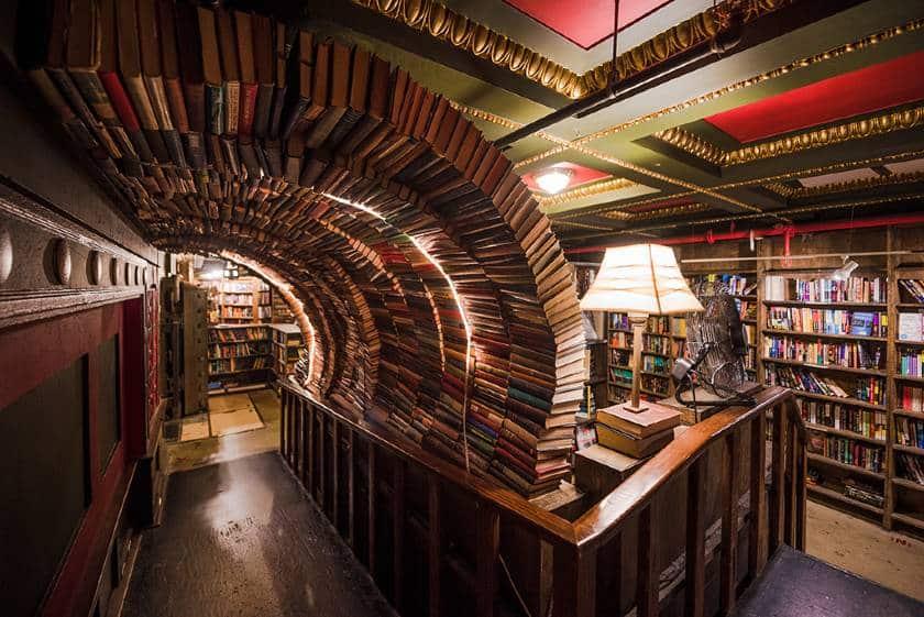 Book Arch in the Last Bookstore