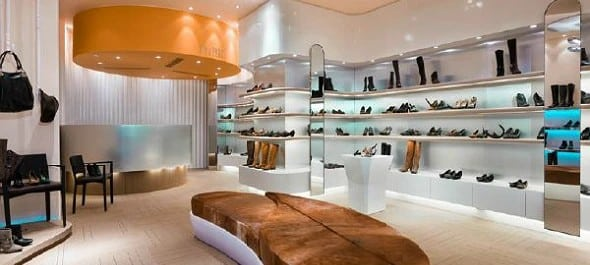 Shoe Store Uses Lighting to Keep the Space Lit