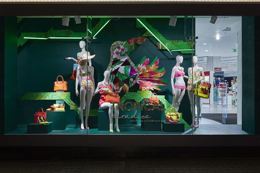 Store Window Summer Display