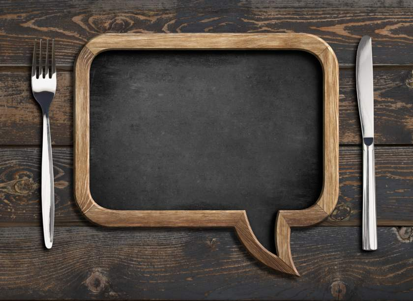 menu blackboard frame