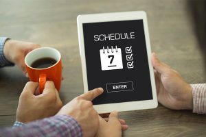 Scheduling on a Tablet