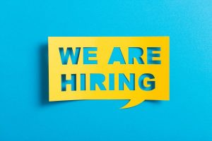 We Are Hiring Chat Bubble Paper