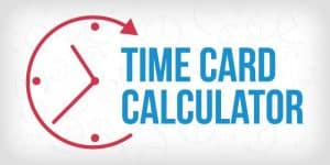 Time Card Calculator Graphic