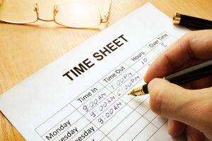 Writing Down Time Sheet Details