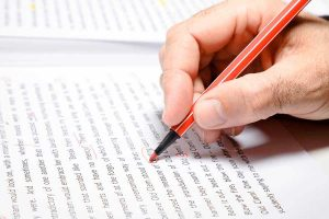 Male Hand Writing In Document