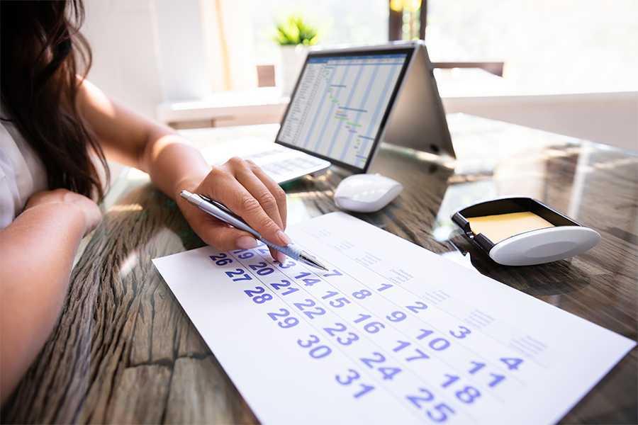 woman planning schedules