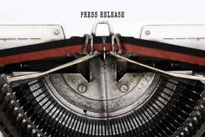 Press Release typed on Retro Typewriter