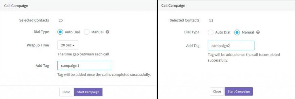 Agile CRM Auto Dialing Campaign Configuration