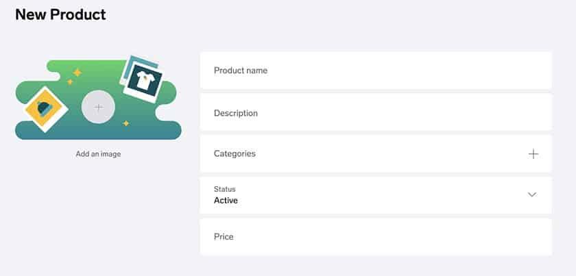 Screenshot of Big Cartel add new product details