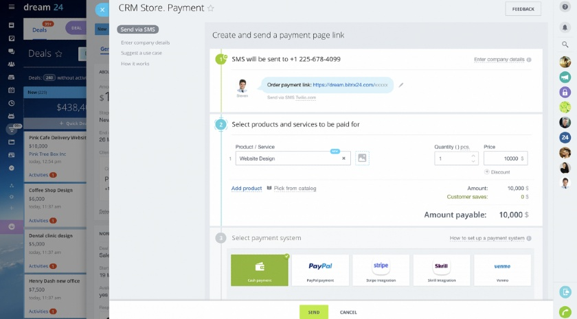 Bitrix24 Built-in payment processing
