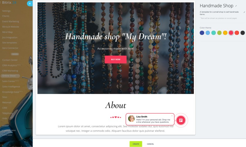 Bitrix24 Online Store Page
