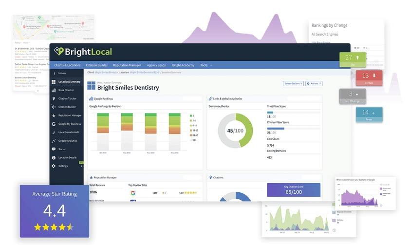 BrightLocal interface